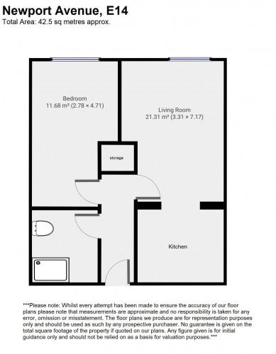 Floorplan for Newport Avenue, London, E14