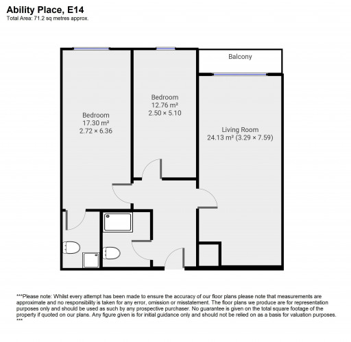 Floorplan for Ability Place, E14
