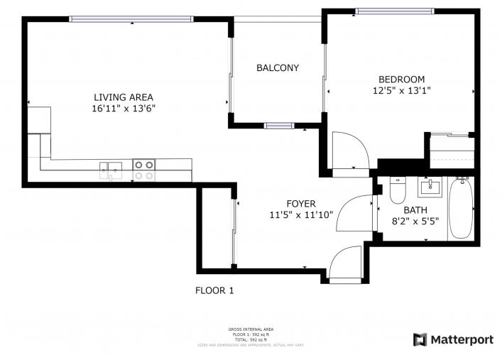 Floorplan for Plot 3J, The Boiler House, UB3