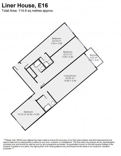 Floorplan for Liner House, E16