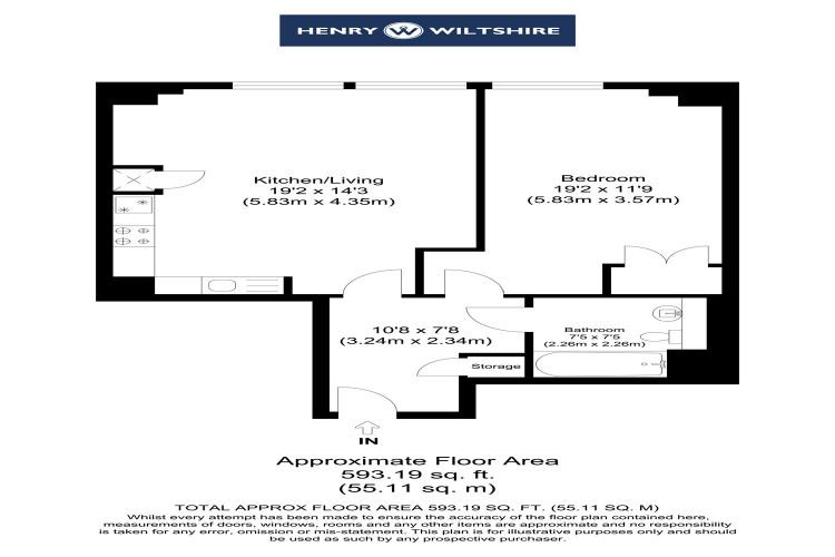 Floorplan for Landmark East Tower, 24 Marshwall, London, E14