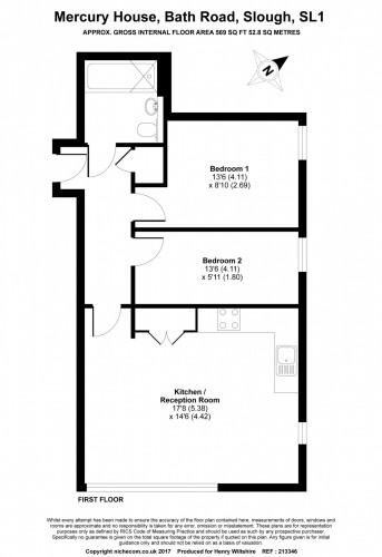 Floorplan for Mercury House, Bath Road, SL1