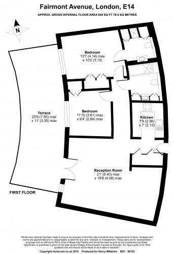 Floorplan for New Providence Wharf, Canary Wharf, E14